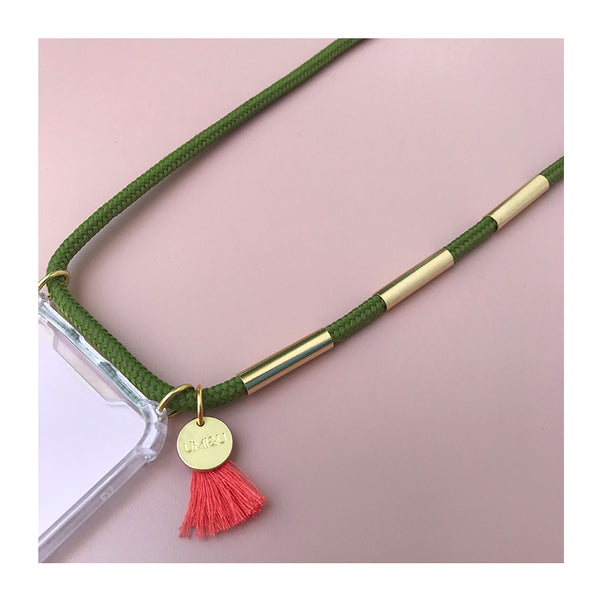green and gold phone necklace UAE