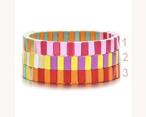 Colorblock Metal Bracelet