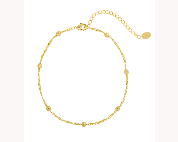 Twisted Bead Gold Anklet Dubai