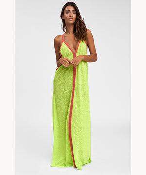 Long Boho Sundress in Lemon