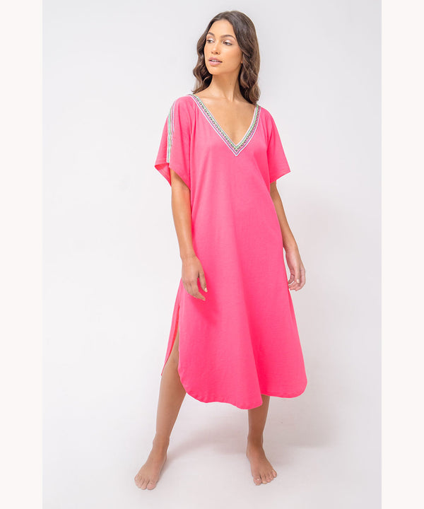 Neon Fuchsia beach dress