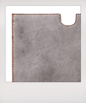 Grey Leather Tablet Case