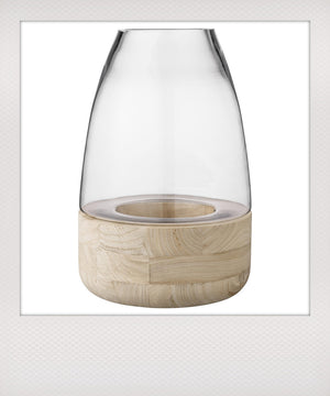 Wood & Glass Lantern