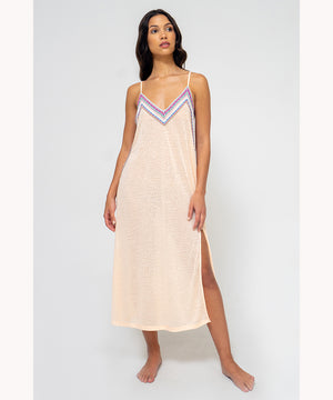 PITUSA SLIP DRESS MELON