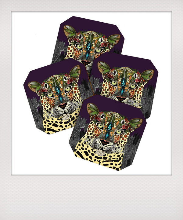 Leopard Queen Coaster Set