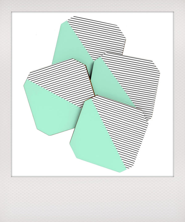 Mint & Stripes Coaster Set