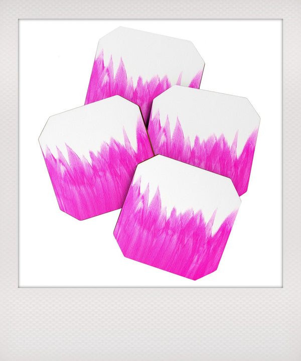 Pink Brushed Coaster Set