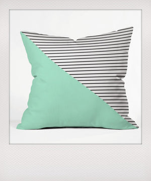 Mint & Stripes Outdoor Cushion