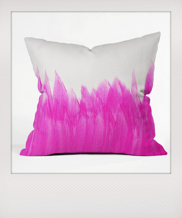 Pink Brushed Outdoor Cushion