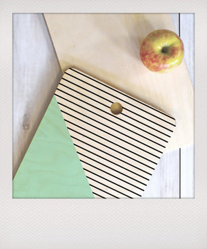 Mint & Stripes Chopping Board