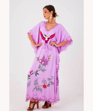 Bohemian Hippie Fuchsia Dress