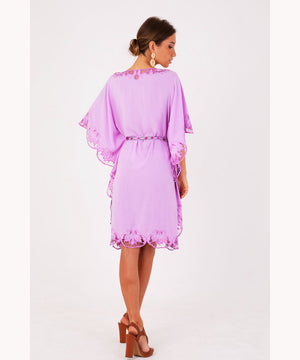 Fuchsia Embroidered Dress Dubai