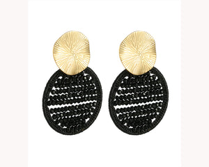 gold and black earrings dubai