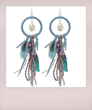 Feather Earrings Dubai