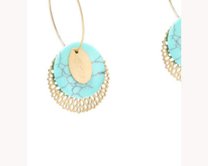 Hoop statement earrings UAE