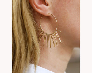 trendy hoop earrings UAE