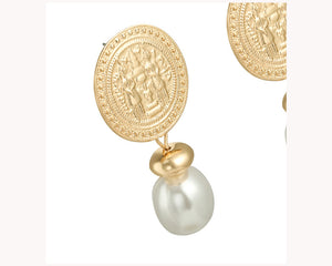 Rustic Dainty Earrings Pearl UAE