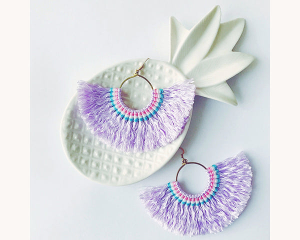 Earrings 'Halfmoon Lavender'