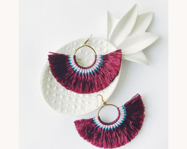 Earrings 'Halfmoon Plum'