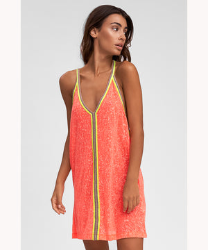 beach dress in watermelon