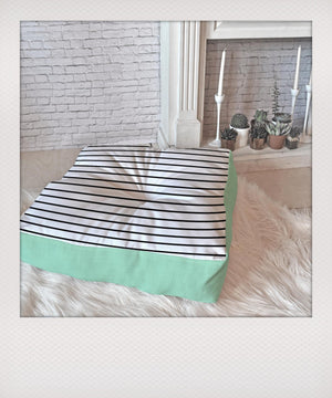 Mint & Stripes Floor Pillow