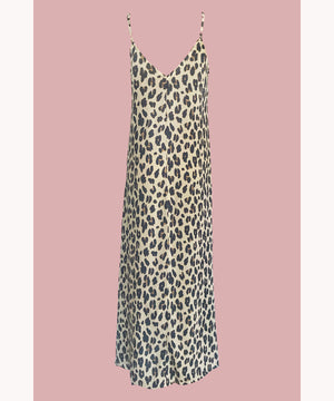 Leopard Dress Sandy Beige
