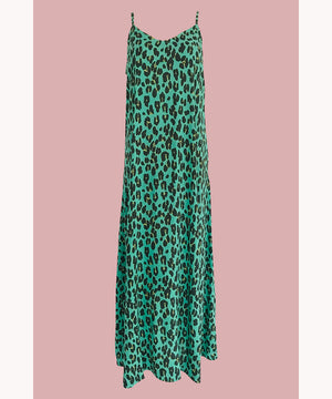 Leopard Dress Bold Mint