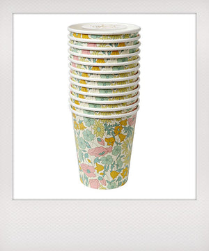 Poppy & Daisy Paper Cups