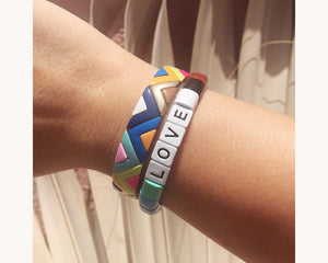 Bracelet 'Colorblox Rainbow Love'