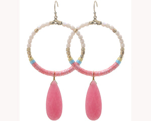 Pink hoop earrings UAE