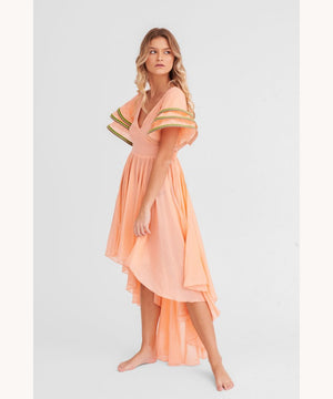 Pitusa Flared Dress Peach