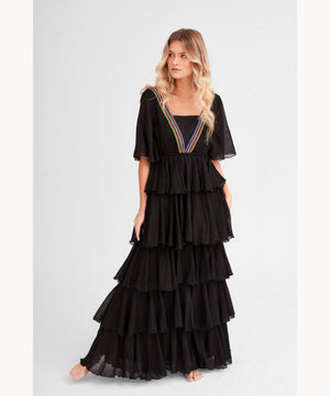 Maxi Dress Black Dubai Pitusa