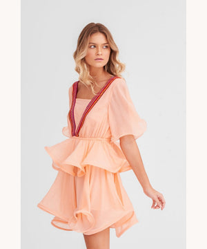 Pitusa Talullah Dress Peach