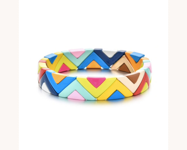 Bracelet 'Colorblox Rainbow Chevron'