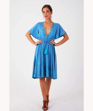 Blue Hippie Dress UAE
