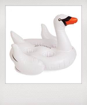 Swan Drinkholder Float