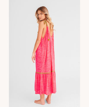 Pitusa Tie Up Dress Pink