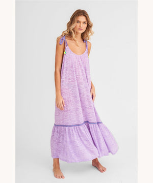 TIE UP LAVENDER DRESS