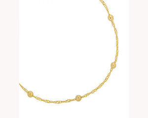 Gold bead dainty anklet UAE