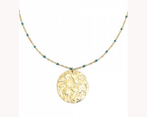 Gold coin pendant Necklace Dubai