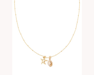 Starfish Shell Gold Necklace Dubai