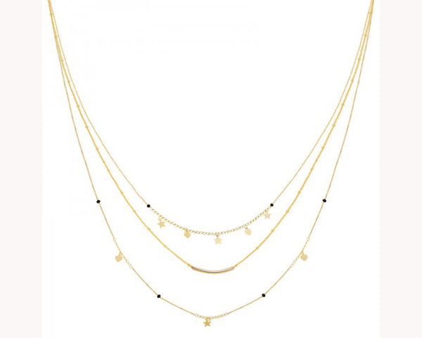 Star Heart Layered Necklace