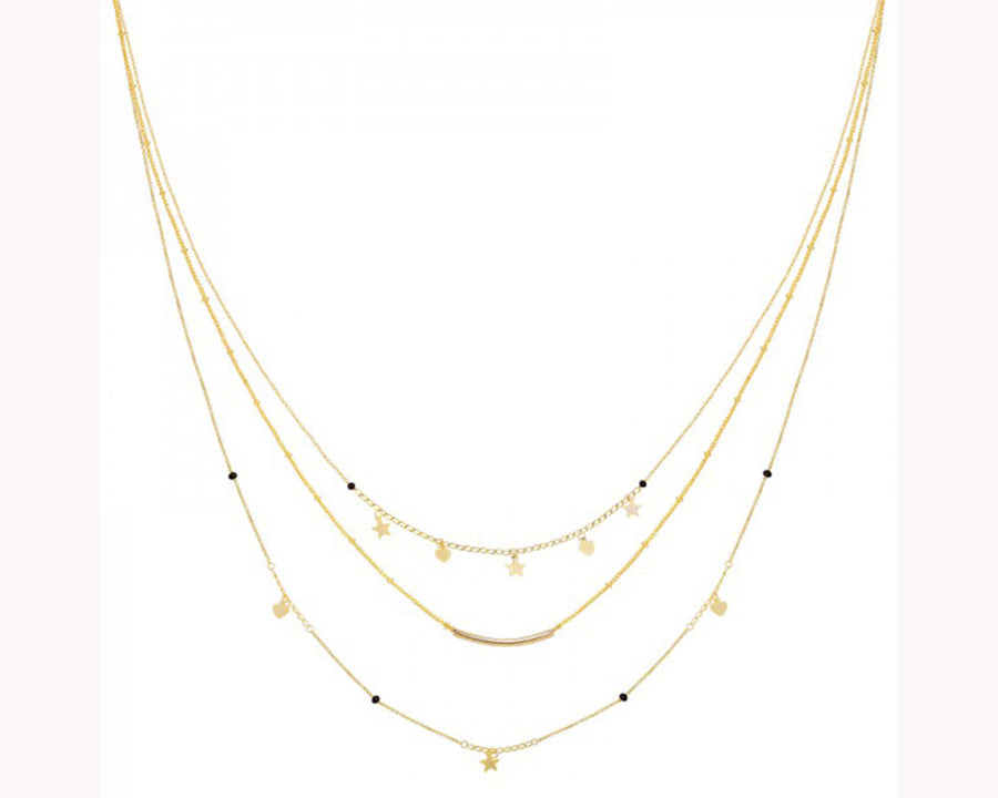 Layered Necklace Style Star