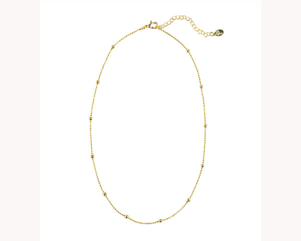 Gold Dot Necklace Gold Plated UAE