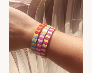 Colorblock Bracelet Stack