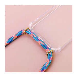 Pink Purple and Blue Phone Strap Case