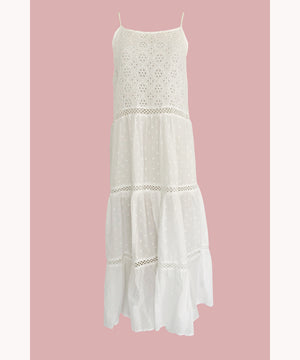 White Lace Bohemian Dress