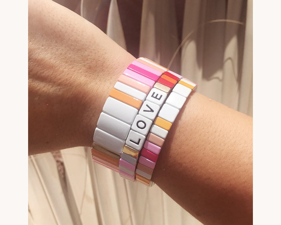 Bracelet 'Colorblox Sunset'