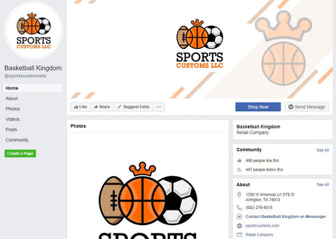 Sports Customs Facebook Page