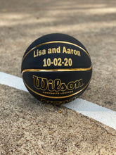 Load image into Gallery viewer, Custom Wilson Black and Gold Basketball